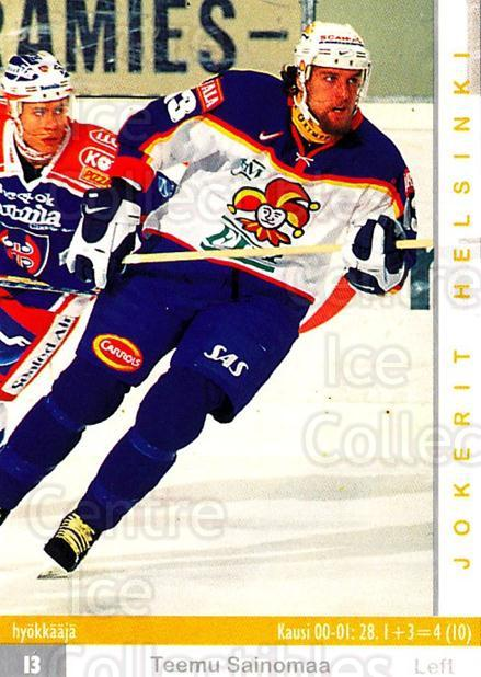 2001-02 Finnish Cardset #53 Teemu Sainomaa<br/>7 In Stock - $2.00 each - <a href=https://centericecollectibles.foxycart.com/cart?name=2001-02%20Finnish%20Cardset%20%2353%20Teemu%20Sainomaa...&price=$2.00&code=163295 class=foxycart> Buy it now! </a>
