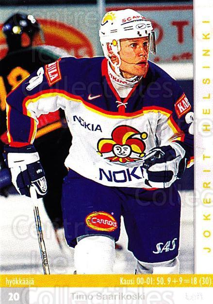 2001-02 Finnish Cardset #55 Timo Saarikoski<br/>10 In Stock - $2.00 each - <a href=https://centericecollectibles.foxycart.com/cart?name=2001-02%20Finnish%20Cardset%20%2355%20Timo%20Saarikoski...&price=$2.00&code=163297 class=foxycart> Buy it now! </a>