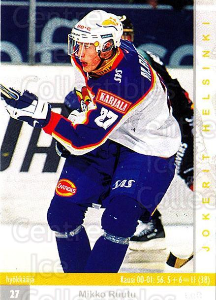 2001-02 Finnish Cardset #57 Mikko Ruutu<br/>2 In Stock - $2.00 each - <a href=https://centericecollectibles.foxycart.com/cart?name=2001-02%20Finnish%20Cardset%20%2357%20Mikko%20Ruutu...&price=$2.00&code=163299 class=foxycart> Buy it now! </a>