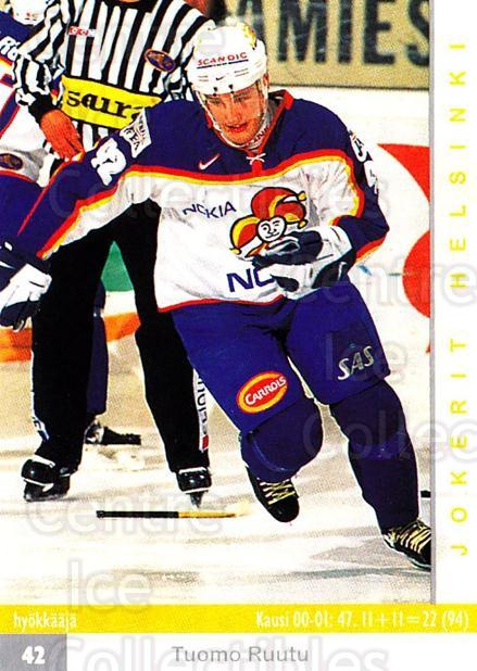 2001-02 Finnish Cardset #58 Tuomo Ruutu<br/>7 In Stock - $3.00 each - <a href=https://centericecollectibles.foxycart.com/cart?name=2001-02%20Finnish%20Cardset%20%2358%20Tuomo%20Ruutu...&price=$3.00&code=163300 class=foxycart> Buy it now! </a>