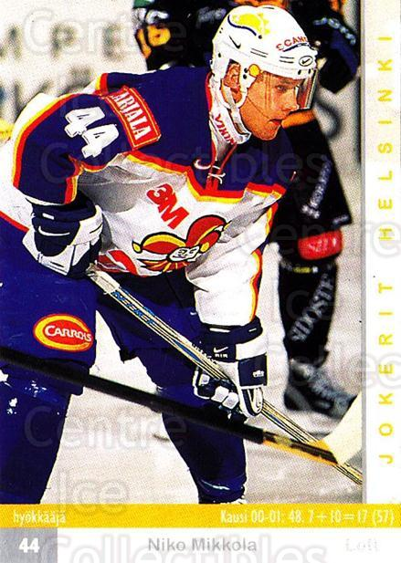 2001-02 Finnish Cardset #59 Niko Mikkola<br/>7 In Stock - $2.00 each - <a href=https://centericecollectibles.foxycart.com/cart?name=2001-02%20Finnish%20Cardset%20%2359%20Niko%20Mikkola...&price=$2.00&code=163301 class=foxycart> Buy it now! </a>