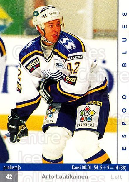 2001-02 Finnish Cardset #6 Arto Laatikainen<br/>6 In Stock - $2.00 each - <a href=https://centericecollectibles.foxycart.com/cart?name=2001-02%20Finnish%20Cardset%20%236%20Arto%20Laatikaine...&quantity_max=6&price=$2.00&code=163302 class=foxycart> Buy it now! </a>
