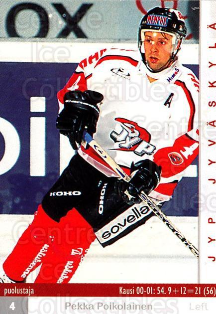 2001-02 Finnish Cardset #62 Pekka Poikolainen<br/>7 In Stock - $2.00 each - <a href=https://centericecollectibles.foxycart.com/cart?name=2001-02%20Finnish%20Cardset%20%2362%20Pekka%20Poikolain...&quantity_max=7&price=$2.00&code=163305 class=foxycart> Buy it now! </a>