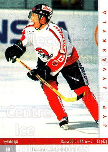 2001-02 Finnish Cardset #64 Tuomo Jaaskelainen<br/>8 In Stock - $2.00 each - <a href=https://centericecollectibles.foxycart.com/cart?name=2001-02%20Finnish%20Cardset%20%2364%20Tuomo%20Jaaskelai...&price=$2.00&code=163307 class=foxycart> Buy it now! </a>