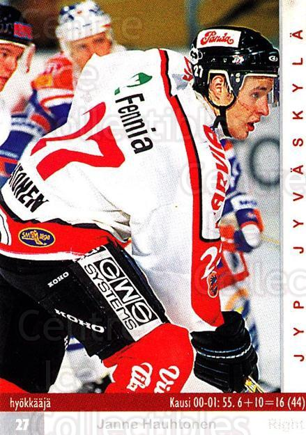 2001-02 Finnish Cardset #67 Janne Hauhtonen<br/>5 In Stock - $2.00 each - <a href=https://centericecollectibles.foxycart.com/cart?name=2001-02%20Finnish%20Cardset%20%2367%20Janne%20Hauhtonen...&quantity_max=5&price=$2.00&code=163310 class=foxycart> Buy it now! </a>