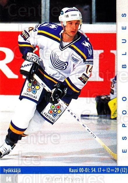 2001-02 Finnish Cardset #7 Valeri Krykov<br/>11 In Stock - $2.00 each - <a href=https://centericecollectibles.foxycart.com/cart?name=2001-02%20Finnish%20Cardset%20%237%20Valeri%20Krykov...&quantity_max=11&price=$2.00&code=163313 class=foxycart> Buy it now! </a>