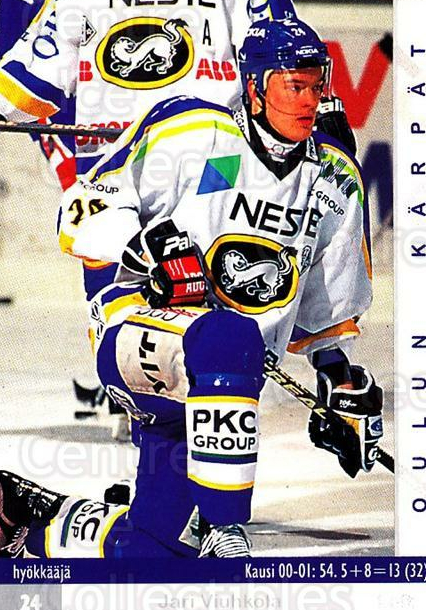 2001-02 Finnish Cardset #82 Jari Viuhkola<br/>8 In Stock - $2.00 each - <a href=https://centericecollectibles.foxycart.com/cart?name=2001-02%20Finnish%20Cardset%20%2382%20Jari%20Viuhkola...&quantity_max=8&price=$2.00&code=163327 class=foxycart> Buy it now! </a>