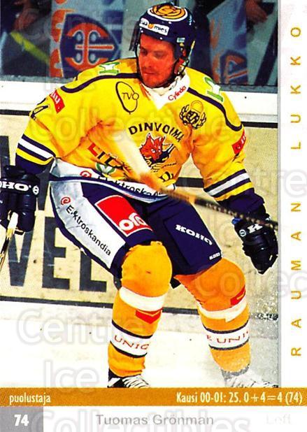 2001-02 Finnish Cardset #88 Tuomas Gronman<br/>6 In Stock - $2.00 each - <a href=https://centericecollectibles.foxycart.com/cart?name=2001-02%20Finnish%20Cardset%20%2388%20Tuomas%20Gronman...&quantity_max=6&price=$2.00&code=163333 class=foxycart> Buy it now! </a>