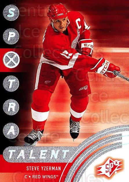 2001-02 SPx #85 Steve Yzerman<br/>6 In Stock - $3.00 each - <a href=https://centericecollectibles.foxycart.com/cart?name=2001-02%20SPx%20%2385%20Steve%20Yzerman...&quantity_max=6&price=$3.00&code=163349 class=foxycart> Buy it now! </a>