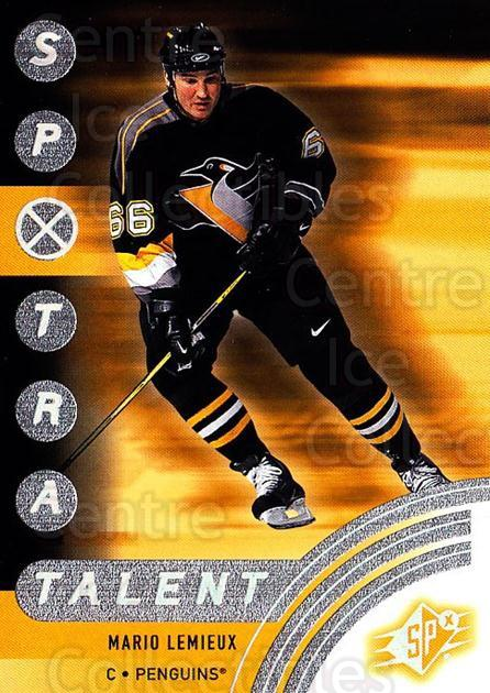 2001-02 SPx #89 Mario Lemieux<br/>2 In Stock - $3.00 each - <a href=https://centericecollectibles.foxycart.com/cart?name=2001-02%20SPx%20%2389%20Mario%20Lemieux...&quantity_max=2&price=$3.00&code=163353 class=foxycart> Buy it now! </a>