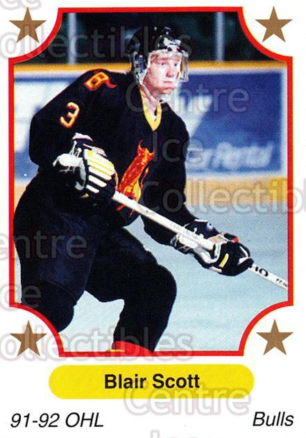 1991-92 7th Inning Sketch OHL #101 Blair Scott<br/>3 In Stock - $1.00 each - <a href=https://centericecollectibles.foxycart.com/cart?name=1991-92%207th%20Inning%20Sketch%20OHL%20%23101%20Blair%20Scott...&price=$1.00&code=16344 class=foxycart> Buy it now! </a>