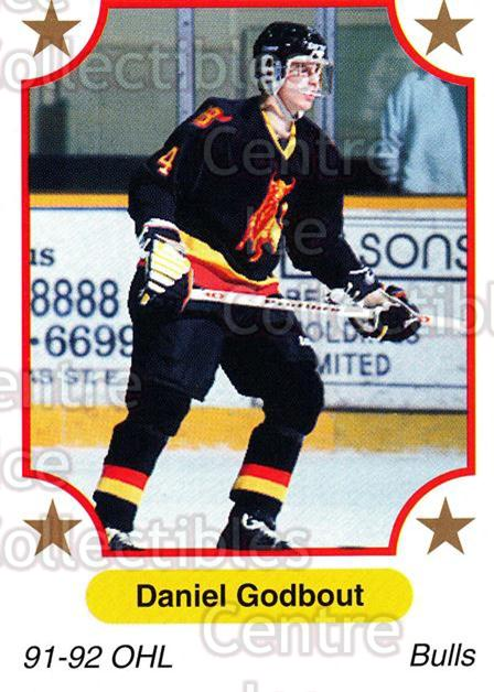 1991-92 7th Inning Sketch OHL #102 Daniel Godbout<br/>7 In Stock - $1.00 each - <a href=https://centericecollectibles.foxycart.com/cart?name=1991-92%207th%20Inning%20Sketch%20OHL%20%23102%20Daniel%20Godbout...&price=$1.00&code=16345 class=foxycart> Buy it now! </a>