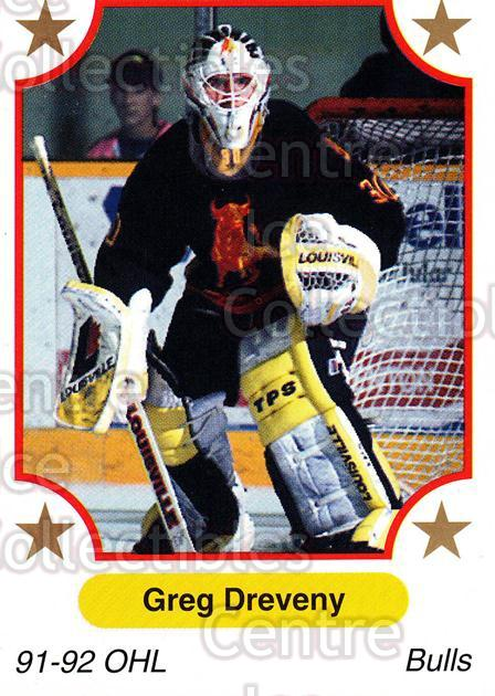 1991-92 7th Inning Sketch OHL #112 Greg Dreveny<br/>6 In Stock - $1.00 each - <a href=https://centericecollectibles.foxycart.com/cart?name=1991-92%207th%20Inning%20Sketch%20OHL%20%23112%20Greg%20Dreveny...&price=$1.00&code=16356 class=foxycart> Buy it now! </a>