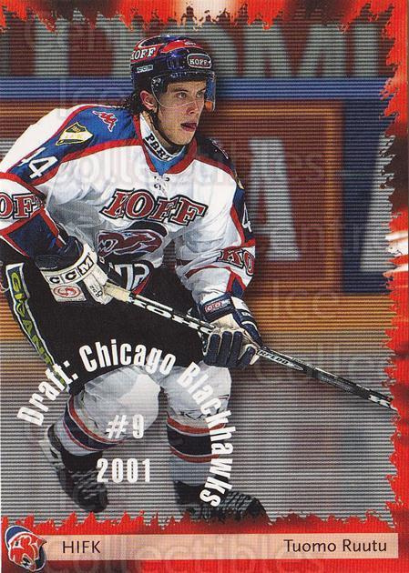 2002-03 Finnish Cardset #256 Tuomo Ruutu<br/>7 In Stock - $2.00 each - <a href=https://centericecollectibles.foxycart.com/cart?name=2002-03%20Finnish%20Cardset%20%23256%20Tuomo%20Ruutu...&quantity_max=7&price=$2.00&code=163756 class=foxycart> Buy it now! </a>