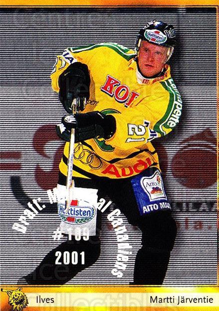 2002-03 Finnish Cardset #31 Martti Jarventie<br/>6 In Stock - $2.00 each - <a href=https://centericecollectibles.foxycart.com/cart?name=2002-03%20Finnish%20Cardset%20%2331%20Martti%20Jarventi...&quantity_max=6&price=$2.00&code=163801 class=foxycart> Buy it now! </a>