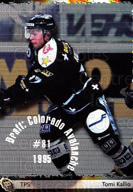 2002-03 Finnish Cardset #33 Tomi Kallio<br/>6 In Stock - $2.00 each - <a href=https://centericecollectibles.foxycart.com/cart?name=2002-03%20Finnish%20Cardset%20%2333%20Tomi%20Kallio...&quantity_max=6&price=$2.00&code=163803 class=foxycart> Buy it now! </a>