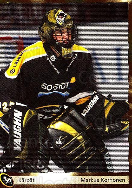 2002-03 Finnish Cardset #42 Markus Korhonen<br/>7 In Stock - $2.00 each - <a href=https://centericecollectibles.foxycart.com/cart?name=2002-03%20Finnish%20Cardset%20%2342%20Markus%20Korhonen...&quantity_max=7&price=$2.00&code=163812 class=foxycart> Buy it now! </a>
