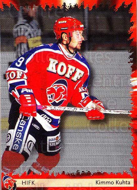 2002-03 Finnish Cardset #47 Kimmo Kuhta<br/>1 In Stock - $2.00 each - <a href=https://centericecollectibles.foxycart.com/cart?name=2002-03%20Finnish%20Cardset%20%2347%20Kimmo%20Kuhta...&quantity_max=1&price=$2.00&code=163817 class=foxycart> Buy it now! </a>