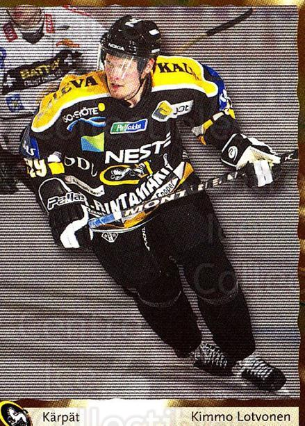 2002-03 Finnish Cardset #63 Kimmo Lotvonen<br/>7 In Stock - $2.00 each - <a href=https://centericecollectibles.foxycart.com/cart?name=2002-03%20Finnish%20Cardset%20%2363%20Kimmo%20Lotvonen...&quantity_max=7&price=$2.00&code=163835 class=foxycart> Buy it now! </a>