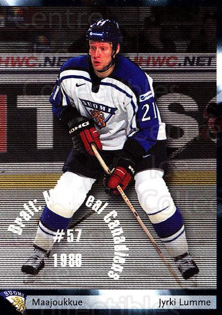 2002-03 Finnish Cardset #64 Jyrki Lumme<br/>6 In Stock - $2.00 each - <a href=https://centericecollectibles.foxycart.com/cart?name=2002-03%20Finnish%20Cardset%20%2364%20Jyrki%20Lumme...&quantity_max=6&price=$2.00&code=163836 class=foxycart> Buy it now! </a>