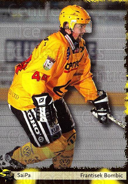 2002-03 Finnish Cardset #7 Frantisek Bombic<br/>3 In Stock - $2.00 each - <a href=https://centericecollectibles.foxycart.com/cart?name=2002-03%20Finnish%20Cardset%20%237%20Frantisek%20Bombi...&quantity_max=3&price=$2.00&code=163842 class=foxycart> Buy it now! </a>