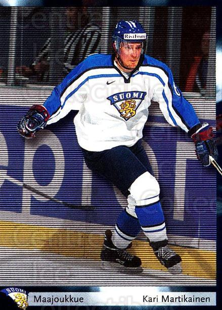 2002-03 Finnish Cardset #70 Kari Martikainen<br/>8 In Stock - $2.00 each - <a href=https://centericecollectibles.foxycart.com/cart?name=2002-03%20Finnish%20Cardset%20%2370%20Kari%20Martikaine...&quantity_max=8&price=$2.00&code=163843 class=foxycart> Buy it now! </a>
