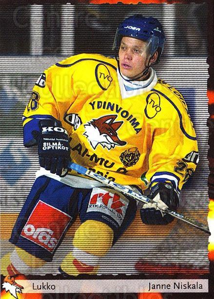 2002-03 Finnish Cardset #83 Janne Niskala<br/>8 In Stock - $2.00 each - <a href=https://centericecollectibles.foxycart.com/cart?name=2002-03%20Finnish%20Cardset%20%2383%20Janne%20Niskala...&quantity_max=8&price=$2.00&code=163855 class=foxycart> Buy it now! </a>
