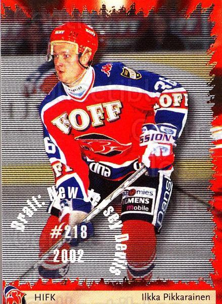 2002-03 Finnish Cardset #95 Ilkka Pikkarainen<br/>6 In Stock - $2.00 each - <a href=https://centericecollectibles.foxycart.com/cart?name=2002-03%20Finnish%20Cardset%20%2395%20Ilkka%20Pikkarain...&quantity_max=6&price=$2.00&code=163867 class=foxycart> Buy it now! </a>