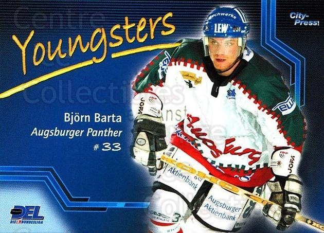 2002-03 German DEL #3 Bjorn Barta<br/>6 In Stock - $2.00 each - <a href=https://centericecollectibles.foxycart.com/cart?name=2002-03%20German%20DEL%20%233%20Bjorn%20Barta...&quantity_max=6&price=$2.00&code=163921 class=foxycart> Buy it now! </a>