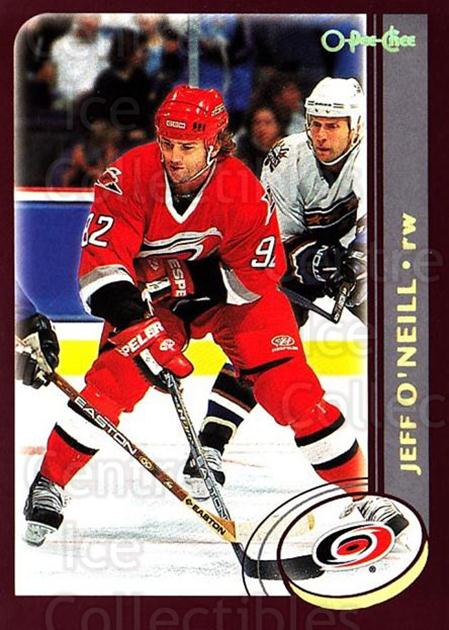 2002-03 O-Pee-Chee Factory #258 Jeff O'Neill<br/>7 In Stock - $1.00 each - <a href=https://centericecollectibles.foxycart.com/cart?name=2002-03%20O-Pee-Chee%20Factory%20%23258%20Jeff%20O'Neill...&quantity_max=7&price=$1.00&code=164009 class=foxycart> Buy it now! </a>