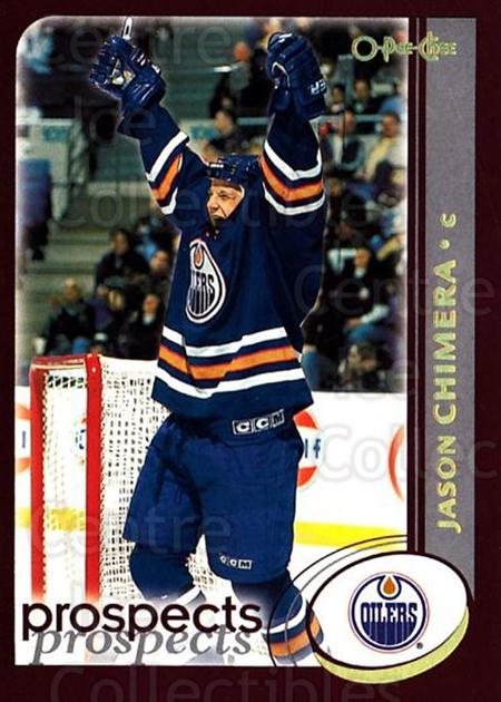 2002-03 O-Pee-Chee Factory #267 Jason Chimera<br/>7 In Stock - $1.00 each - <a href=https://centericecollectibles.foxycart.com/cart?name=2002-03%20O-Pee-Chee%20Factory%20%23267%20Jason%20Chimera...&quantity_max=7&price=$1.00&code=164018 class=foxycart> Buy it now! </a>