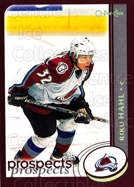 2002-03 O-Pee-Chee Factory #285 Riku Hahl<br/>7 In Stock - $1.00 each - <a href=https://centericecollectibles.foxycart.com/cart?name=2002-03%20O-Pee-Chee%20Factory%20%23285%20Riku%20Hahl...&price=$1.00&code=164037 class=foxycart> Buy it now! </a>