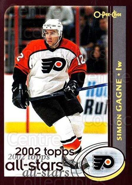 2002-03 O-Pee-Chee Factory #325 Simon Gagne<br/>6 In Stock - $1.00 each - <a href=https://centericecollectibles.foxycart.com/cart?name=2002-03%20O-Pee-Chee%20Factory%20%23325%20Simon%20Gagne...&quantity_max=6&price=$1.00&code=164079 class=foxycart> Buy it now! </a>