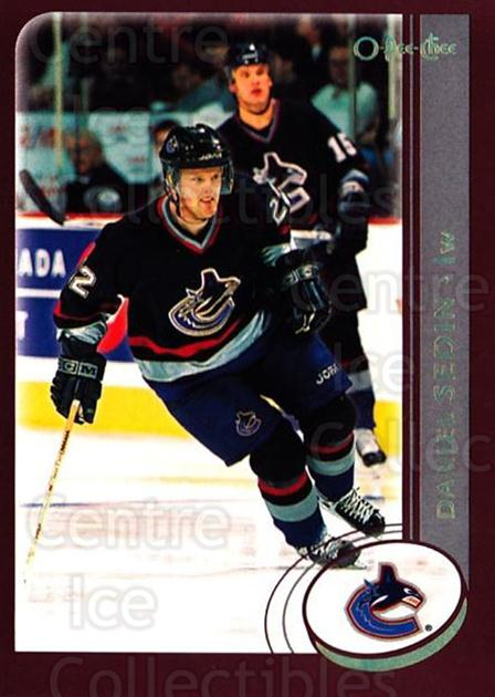 2002-03 O-Pee-Chee Factory #58 Daniel Sedin<br/>7 In Stock - $1.00 each - <a href=https://centericecollectibles.foxycart.com/cart?name=2002-03%20O-Pee-Chee%20Factory%20%2358%20Daniel%20Sedin...&quantity_max=7&price=$1.00&code=164113 class=foxycart> Buy it now! </a>