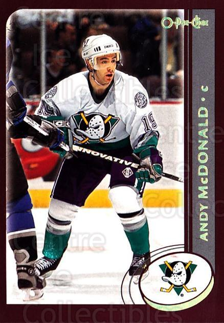 2002-03 O-Pee-Chee Factory #91 Andy McDonald<br/>6 In Stock - $1.00 each - <a href=https://centericecollectibles.foxycart.com/cart?name=2002-03%20O-Pee-Chee%20Factory%20%2391%20Andy%20McDonald...&quantity_max=6&price=$1.00&code=164150 class=foxycart> Buy it now! </a>