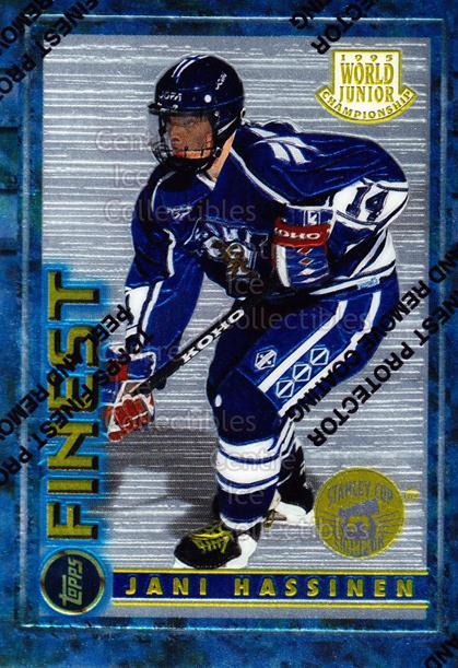 1994-95 Finest Super Team Winner Redeemed #136 Jani Hassinen<br/>12 In Stock - $2.00 each - <a href=https://centericecollectibles.foxycart.com/cart?name=1994-95%20Finest%20Super%20Team%20Winner%20Redeemed%20%23136%20Jani%20Hassinen...&price=$2.00&code=1642 class=foxycart> Buy it now! </a>