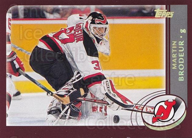 2002-03 Topps Factory #3 Martin Brodeur<br/>1 In Stock - $2.00 each - <a href=https://centericecollectibles.foxycart.com/cart?name=2002-03%20Topps%20Factory%20%233%20Martin%20Brodeur...&quantity_max=1&price=$2.00&code=164350 class=foxycart> Buy it now! </a>