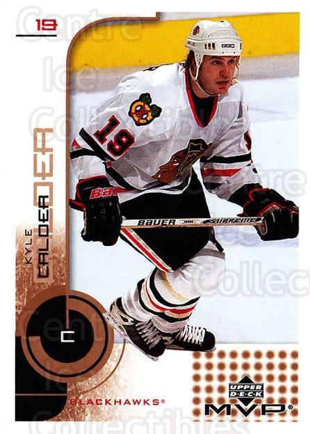 2002-03 Upper Deck MVP #42 Kyle Calder<br/>7 In Stock - $1.00 each - <a href=https://centericecollectibles.foxycart.com/cart?name=2002-03%20Upper%20Deck%20MVP%20%2342%20Kyle%20Calder...&quantity_max=7&price=$1.00&code=164467 class=foxycart> Buy it now! </a>