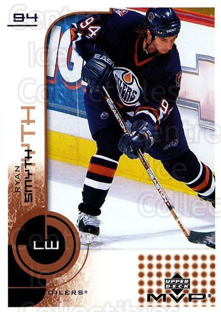 2002-03 Upper Deck MVP #70 Ryan Smyth<br/>4 In Stock - $1.00 each - <a href=https://centericecollectibles.foxycart.com/cart?name=2002-03%20Upper%20Deck%20MVP%20%2370%20Ryan%20Smyth...&quantity_max=4&price=$1.00&code=164497 class=foxycart> Buy it now! </a>
