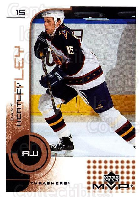 2002-03 Upper Deck MVP #8 Dany Heatley<br/>4 In Stock - $1.00 each - <a href=https://centericecollectibles.foxycart.com/cart?name=2002-03%20Upper%20Deck%20MVP%20%238%20Dany%20Heatley...&quantity_max=4&price=$1.00&code=164506 class=foxycart> Buy it now! </a>
