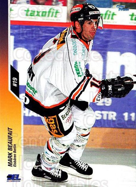 2003-04 German DEL #63 Mark Beaufait<br/>3 In Stock - $2.00 each - <a href=https://centericecollectibles.foxycart.com/cart?name=2003-04%20German%20DEL%20%2363%20Mark%20Beaufait...&quantity_max=3&price=$2.00&code=164638 class=foxycart> Buy it now! </a>