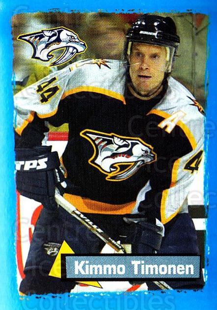 2003-04 Panini Stickers #329 Kimmo Timonen<br/>4 In Stock - $1.00 each - <a href=https://centericecollectibles.foxycart.com/cart?name=2003-04%20Panini%20Stickers%20%23329%20Kimmo%20Timonen...&quantity_max=4&price=$1.00&code=164834 class=foxycart> Buy it now! </a>