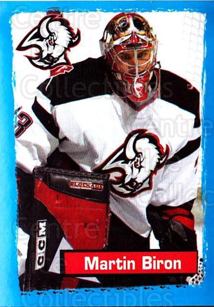 2003-04 Panini Stickers #35 Martin Biron<br/>5 In Stock - $1.00 each - <a href=https://centericecollectibles.foxycart.com/cart?name=2003-04%20Panini%20Stickers%20%2335%20Martin%20Biron...&quantity_max=5&price=$1.00&code=164855 class=foxycart> Buy it now! </a>