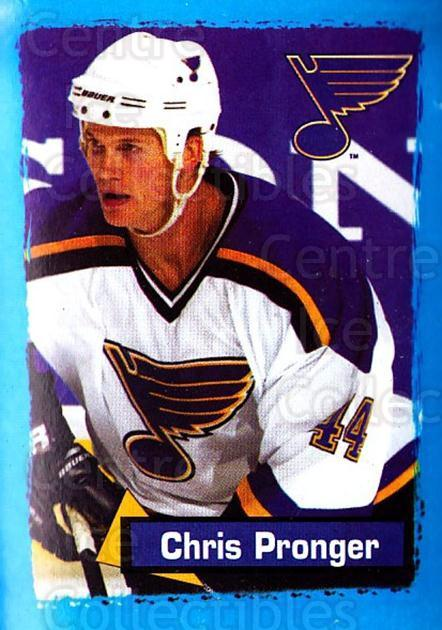2003-04 Panini Stickers #357 Chris Pronger<br/>11 In Stock - $1.00 each - <a href=https://centericecollectibles.foxycart.com/cart?name=2003-04%20Panini%20Stickers%20%23357%20Chris%20Pronger...&quantity_max=11&price=$1.00&code=164863 class=foxycart> Buy it now! </a>
