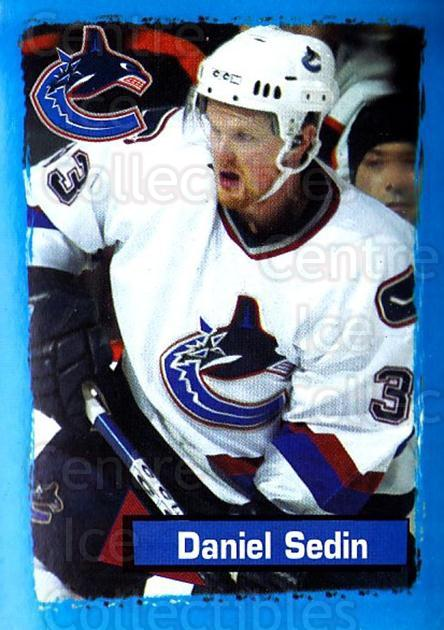 2003-04 Panini Stickers #387 Daniel Sedin<br/>4 In Stock - $1.00 each - <a href=https://centericecollectibles.foxycart.com/cart?name=2003-04%20Panini%20Stickers%20%23387%20Daniel%20Sedin...&quantity_max=4&price=$1.00&code=164896 class=foxycart> Buy it now! </a>