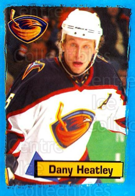 2003-04 Panini Stickers #6 Dany Heatley<br/>10 In Stock - $1.00 each - <a href=https://centericecollectibles.foxycart.com/cart?name=2003-04%20Panini%20Stickers%20%236%20Dany%20Heatley...&quantity_max=10&price=$1.00&code=164922 class=foxycart> Buy it now! </a>