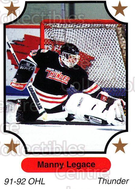 1991-92 7th Inning Sketch OHL #217 Manny Legace<br/>4 In Stock - $1.00 each - <a href=https://centericecollectibles.foxycart.com/cart?name=1991-92%207th%20Inning%20Sketch%20OHL%20%23217%20Manny%20Legace...&quantity_max=4&price=$1.00&code=16511 class=foxycart> Buy it now! </a>