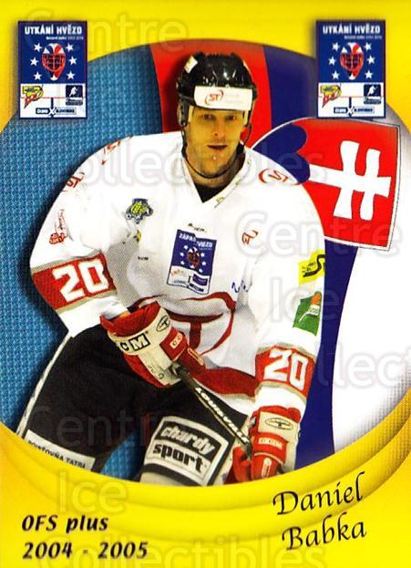2004-05 Czech OFS Czech/Slovak AS Game #23 Daniel Babka<br/>2 In Stock - $2.00 each - <a href=https://centericecollectibles.foxycart.com/cart?name=2004-05%20Czech%20OFS%20Czech/Slovak%20AS%20Game%20%2323%20Daniel%20Babka...&quantity_max=2&price=$2.00&code=165259 class=foxycart> Buy it now! </a>