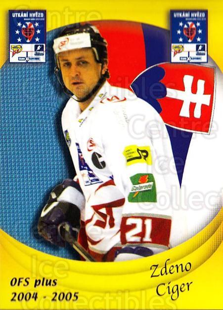 2004-05 Czech OFS Czech/Slovak AS Game #25 Zdeno Ciger<br/>2 In Stock - $2.00 each - <a href=https://centericecollectibles.foxycart.com/cart?name=2004-05%20Czech%20OFS%20Czech/Slovak%20AS%20Game%20%2325%20Zdeno%20Ciger...&quantity_max=2&price=$2.00&code=165260 class=foxycart> Buy it now! </a>