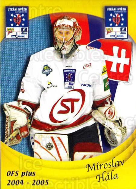 2004-05 Czech OFS Czech/Slovak AS Game #27 Miroslav Hala<br/>2 In Stock - $2.00 each - <a href=https://centericecollectibles.foxycart.com/cart?name=2004-05%20Czech%20OFS%20Czech/Slovak%20AS%20Game%20%2327%20Miroslav%20Hala...&quantity_max=2&price=$2.00&code=165261 class=foxycart> Buy it now! </a>